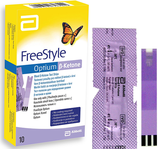 Тест-полоски FREESTYLE OPTIUM B-KETONE 10 шт.